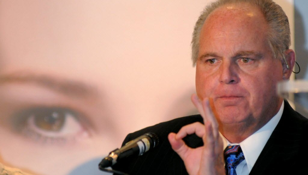Rush Limbaugh misfired in a claim about Gov. Scott Walker. (AP photo)
