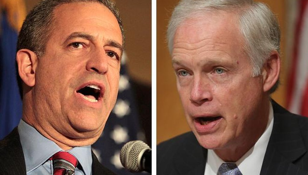Former U.S. Sen. Russ Feingold (left), a Democrat, served three terms in the Senate before Republican Ron Johnson defeated him in 2010. They are in a rematch in 2016.