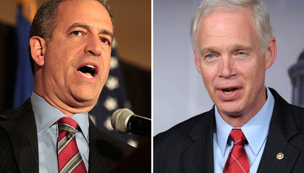 The latest poll of Wisconsin voters indicates a near-dead heat in the Russ Feingold (left) and Ron Johnson U.S. Senate race, which is a rematch from 2010.