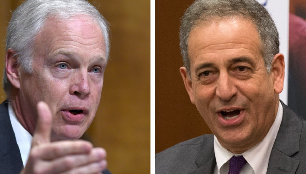 U.S. Sen. Ron Johnson, R-Wisconsin, is facing former U.S. Sen. Russ Feingold, a Democrat, in a rematch of the 2010 race won by Johnson.
