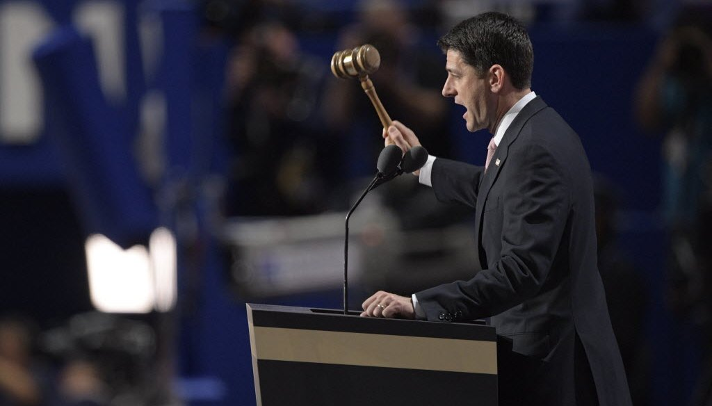 House Speaker Paul Ryan, shown here at the 2016 Republican National Convention, has been in office since 1999. (photo by Rodney White, USA TODAY NETWORK)