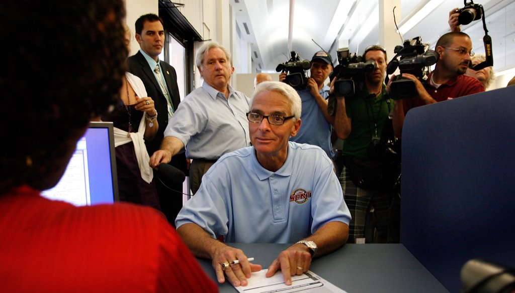 Gov. Charlie Crist said he was running as a Republican. Until he wasn't.