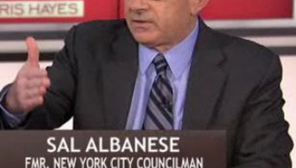Former New York City councilman Sal Albanese said at a mayoral debate that an annual income of $500,000 in Manhattan qualifies as middle class. We checked to see if he was correct.