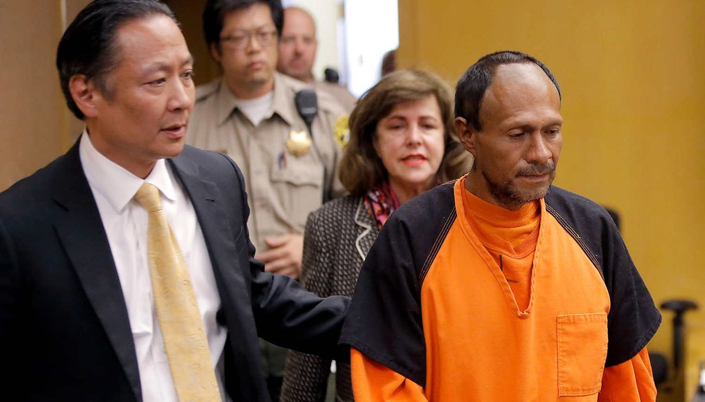 The alleged shooting by Juan Francisco Lopez-Sanchez, right, has put sanctuary cities in the spotlight. (AP)