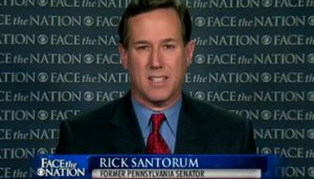 """Republican presidential candidate Rick Santorum made a number of claims about prenatal testing and abortion on CBS News' """"Face the Nation"""" on Feb. 20, 2012. We checked some of them out."""