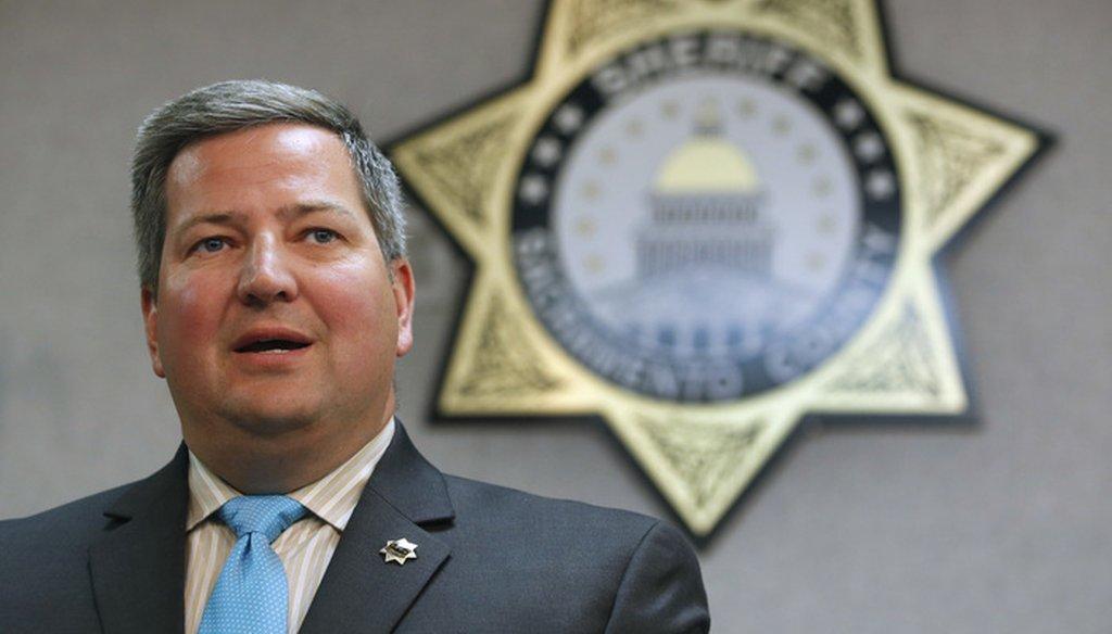 Sacramento County Sheriff Scott Jones. AP Photo/Rich Pedroncelli