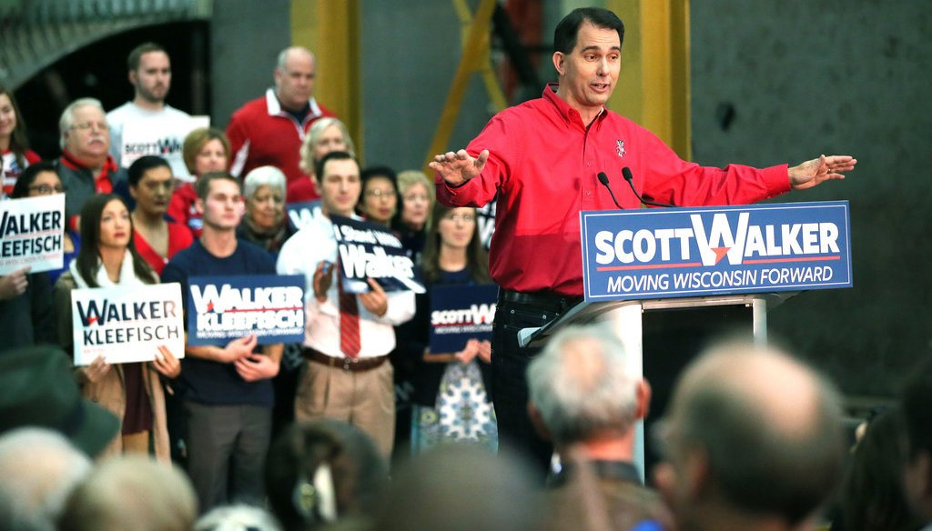 Attacks on Gov. Scott Walker stepped up with his announcement that he would seek a third term in the 2018 election. (Michael Sears/Milwaukee Journal Sentinel)