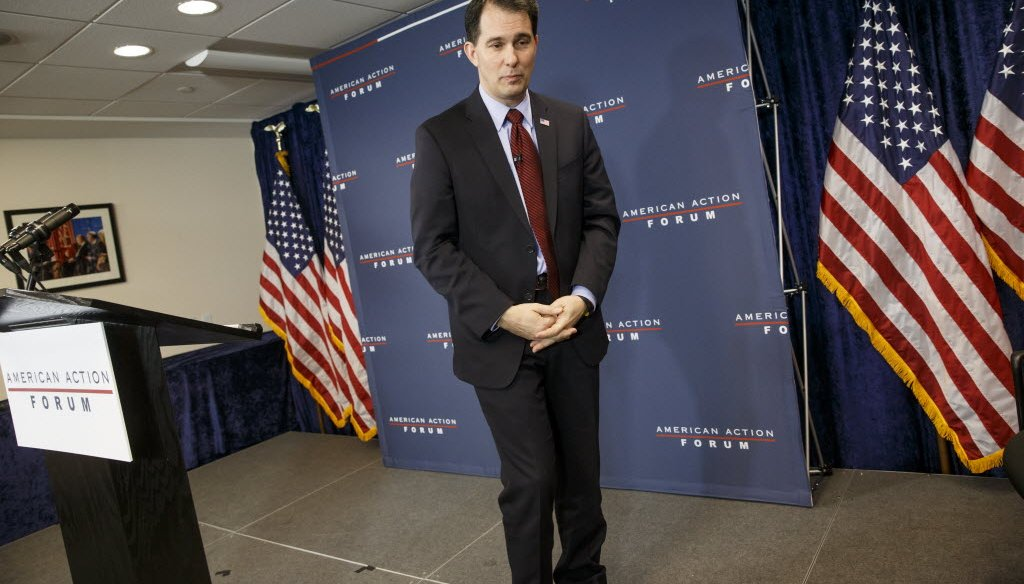 A Pants on Fire rating given to Gov. Scott Walker and an article about his college days and early political years were two of our most-clicked items in January 2015.
