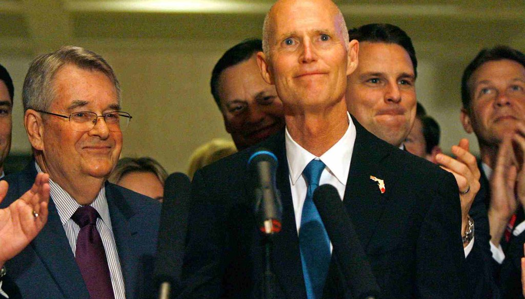 How has Rick Scott done on his 2010 campaign promises? (Tampa Bay Times photo by Scott Keeler)