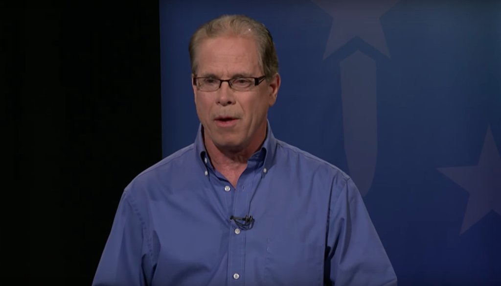 Mike Braun, a candidate for the GOP nomination to represent Indiana in the U.S. Senate, at the last GOP debate before the May 8 primary.