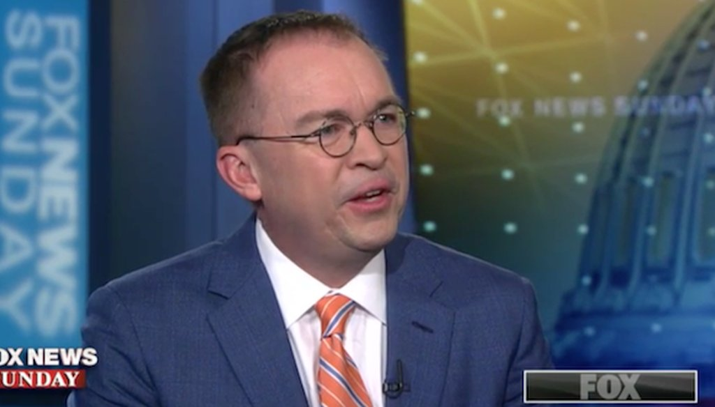 """Acting White House Chief of Staff Mick Mulvaney appeared on the April 7, 2019, edition of """"Fox News Sunday."""""""
