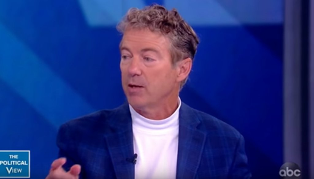 "Sen. Rand Paul, R-Ky., drew boos on ""The View"" when he said that most Americans of modest means don't have an income tax burden. But he had a point."