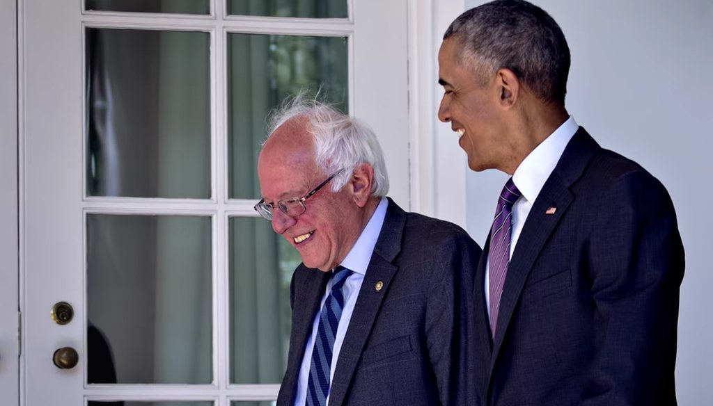 Sen. Bernie Sanders featured 2006 and 2016 praise from former President Barack Obama in an ad for his 2020 presidential campaign.
