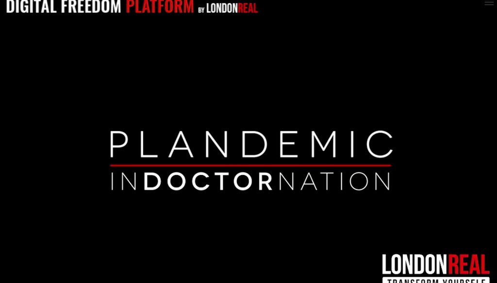 "(Screenshot from ""Plandemic: Indoctornation"")"