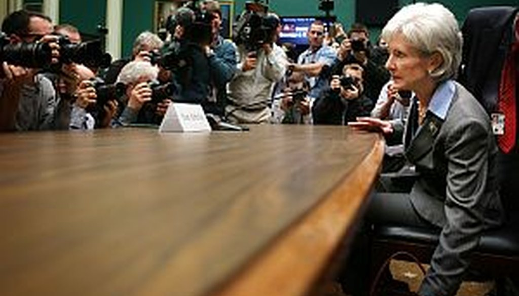 Kathleen Sebelius, Secretary of Health and Human Services, testified before a House committee on Oct. 30, 2013, about the health care law's implementation.