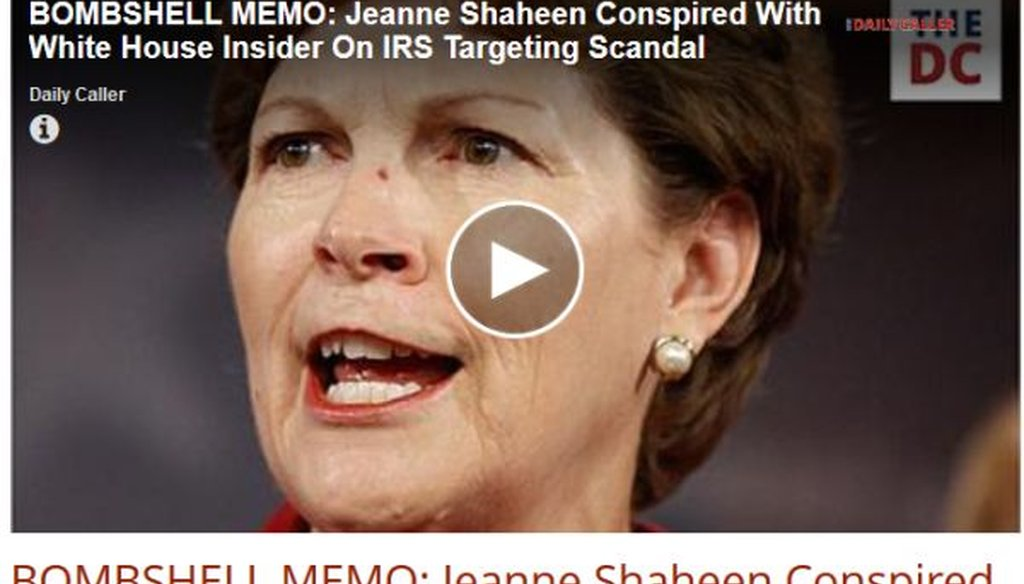 "The Daily Caller published this ""bombshell"" claim about Sen. Jeanne Shaheen the night before Election Day. But how convincing is it?"