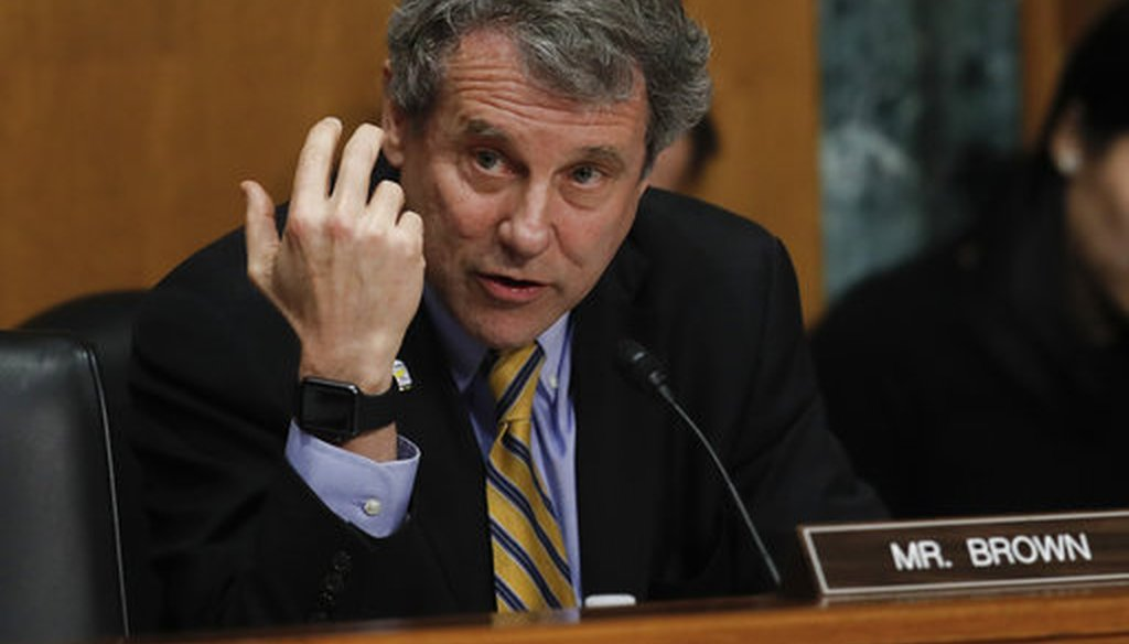Senate Finance Committee member Sen. Sherrod Brown, D-Ohio, questions Alex Azar during a Senate Finance Committee hearing on Capitol Hill in Washington, Jan. 9, 2018, to consider Azar's nomination to be Secretary of Health and Human Services. (AP)