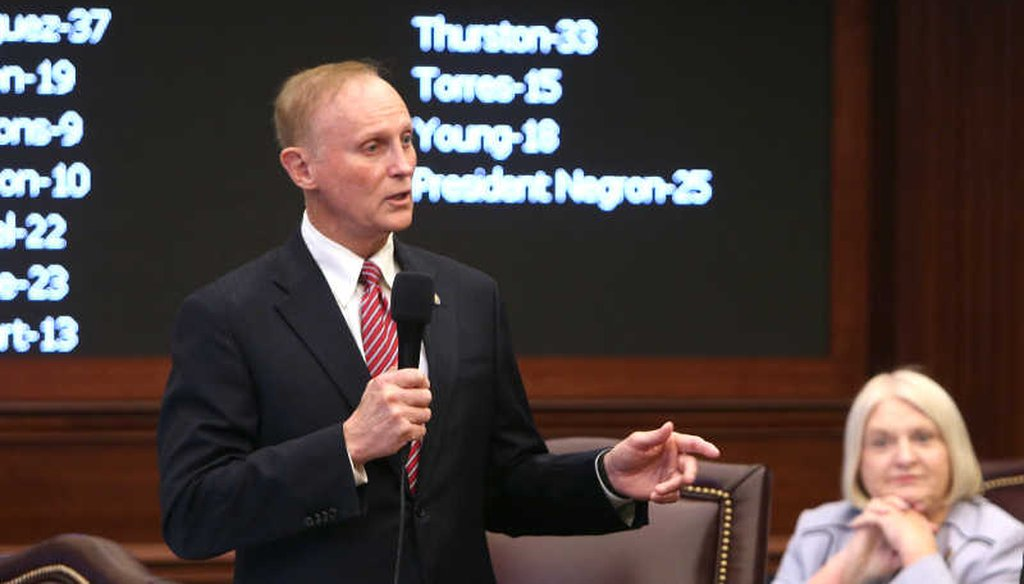 Florida Sen. David Simmons voted to reject an assault weapon ban. (Tampa Bay Times/Scott Keeler)