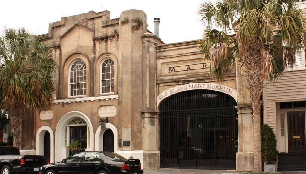 The old slave mart building in Charleston, S.C. In 1860, Charleston County had more slaves than any other county in America. (Joan Soulliere via Flickr Creative Commons)