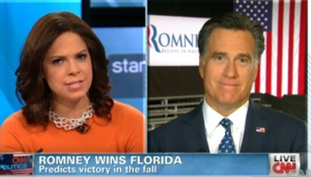 On CNN, Mitt Romney discussed his plans for the poor with Soledad O'Brien.