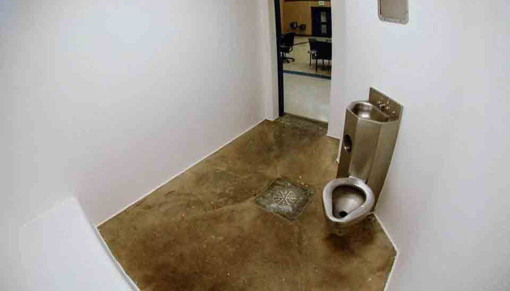 This solitary confinement cell is in Central Prison in Raleigh, N.C. It's less than 100 square feet. News & Observer photo.
