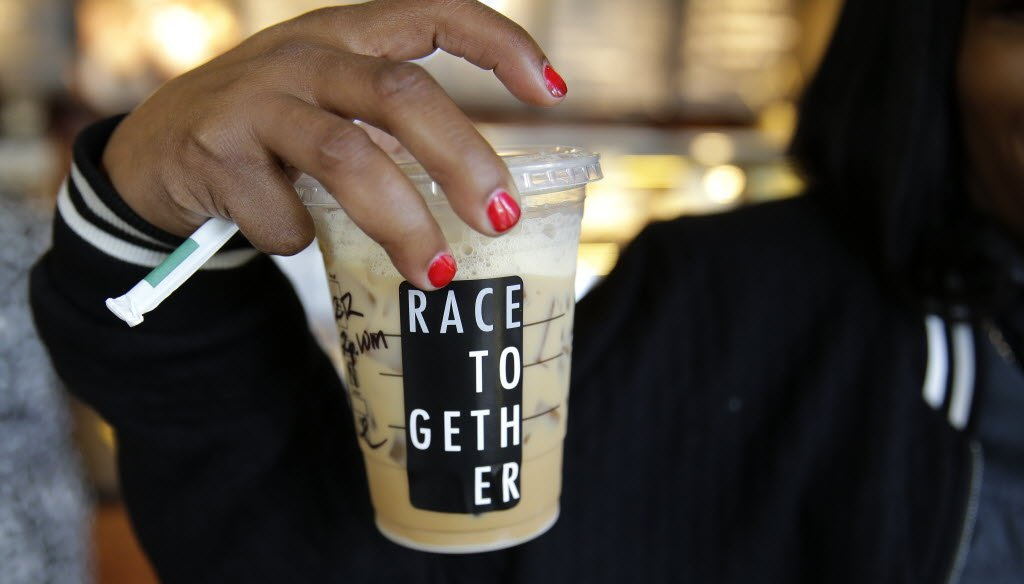 "Starbucks' ""Race Together"" campaign aims to spark a national conversation about race. (AP photo)"