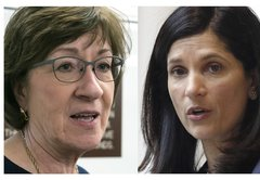 In Maine Senate race, the candidates get personal, and even their husbands are targets for attacks