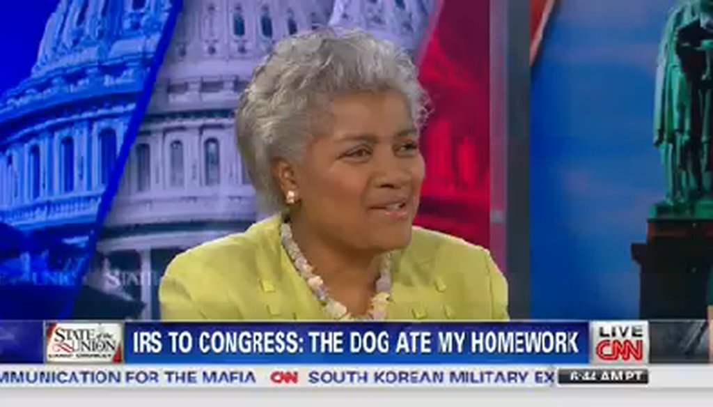 "Donna Brazile appeared on CNN's ""State of the Union"" on June 23, 2014."