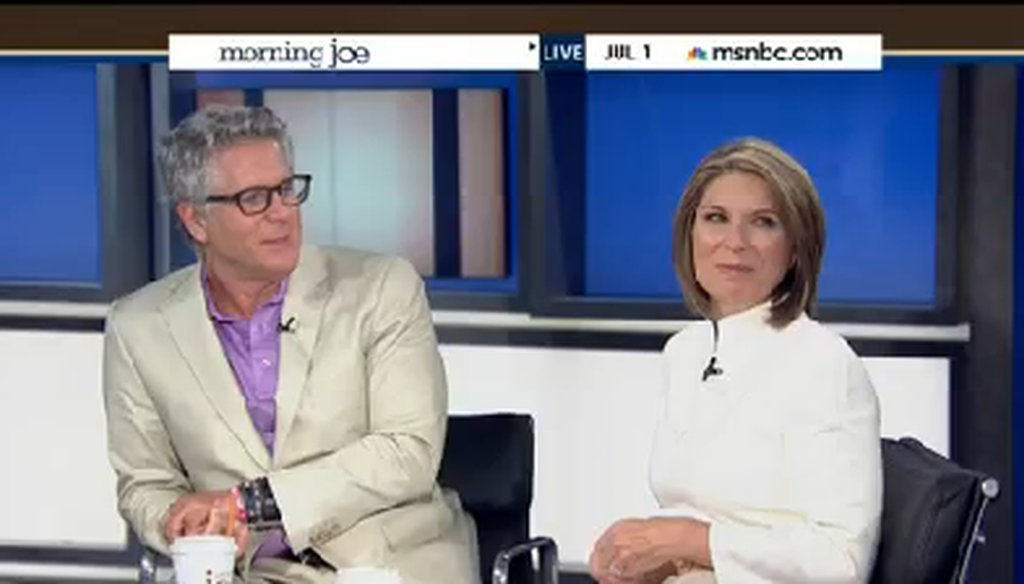 "Donny Deutsch and Nicole Wallace on the July 1, 2014, edition of MSNBC's ""Morning Joe."""