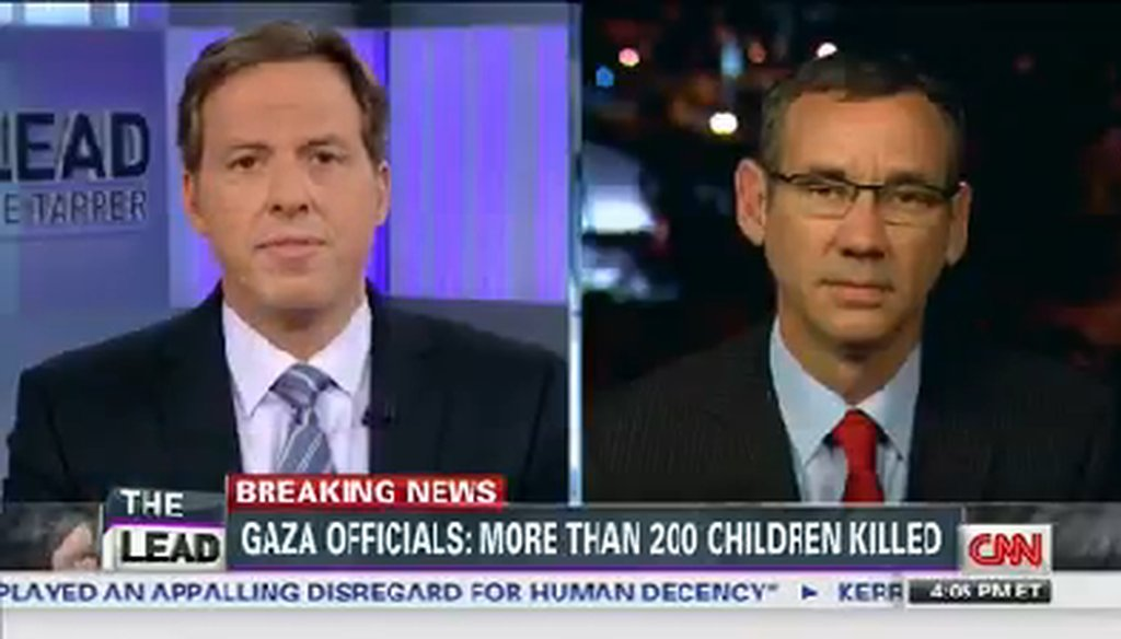 Jake Tapper talks with Israeli spokesperson Mark Regev on July 29, 2014.