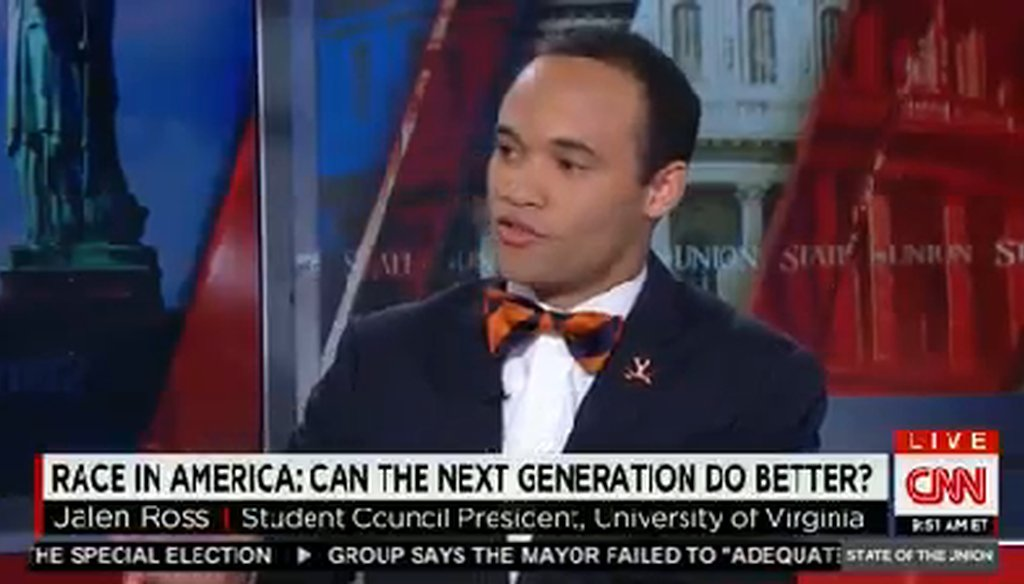 "Jalen Ross, student council president at the University of Virginia, on CNN's ""State of the Union."""