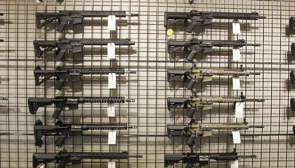A snapshot of the selection at Shooter's World in Tampa. (Tampa Bay Times)