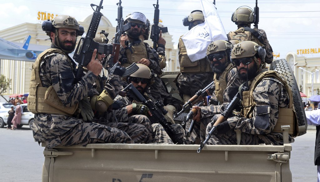 Taliban special force fighters arrive at the Hamid Karzai International Airport after the U.S. military's withdrawal, in Kabul, Afghanistan. (AP Photo/Khwaja Tawfiq Sediqi)