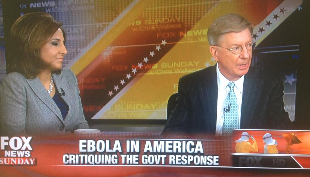 "George Will on ""Fox News Sunday"" Oct. 19, 2014."
