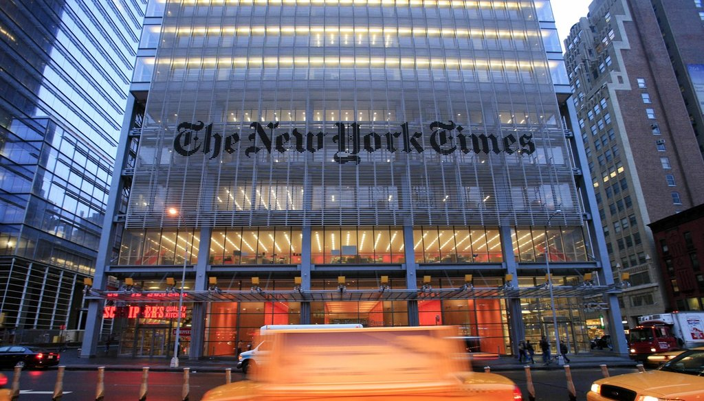 In this April 21, 2009 file photo, the New York Times headquarters is shown in New York. (AP)