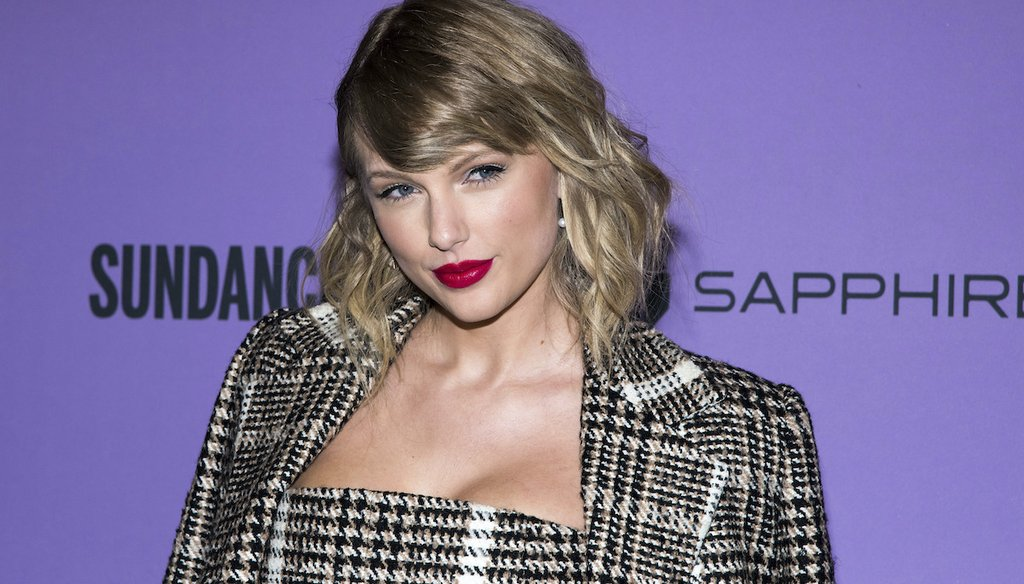 "Taylor Swift attends the premiere of ""Taylor Swift: Miss Americana"" at the Eccles Theater during the 2020 Sundance Film Festival on Thursday, Jan. 23, 2020, in Park City, Utah. (AP)"