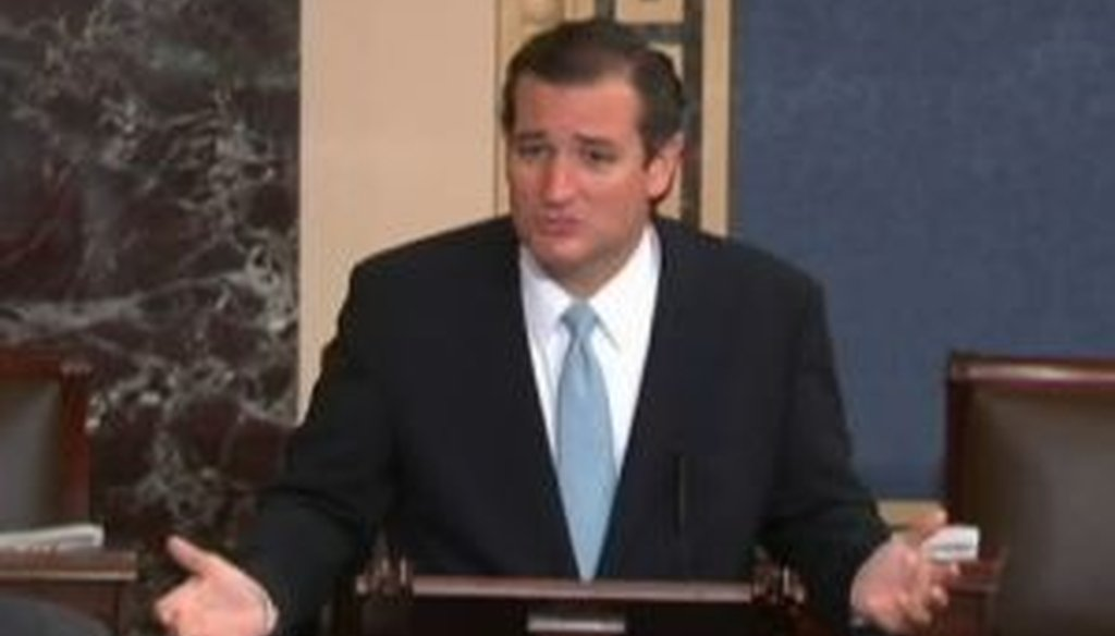Sen. Ted Cruz, R-Texas, tried to rally opponents of Obamacare with a Senate floor speech that spread over two days.