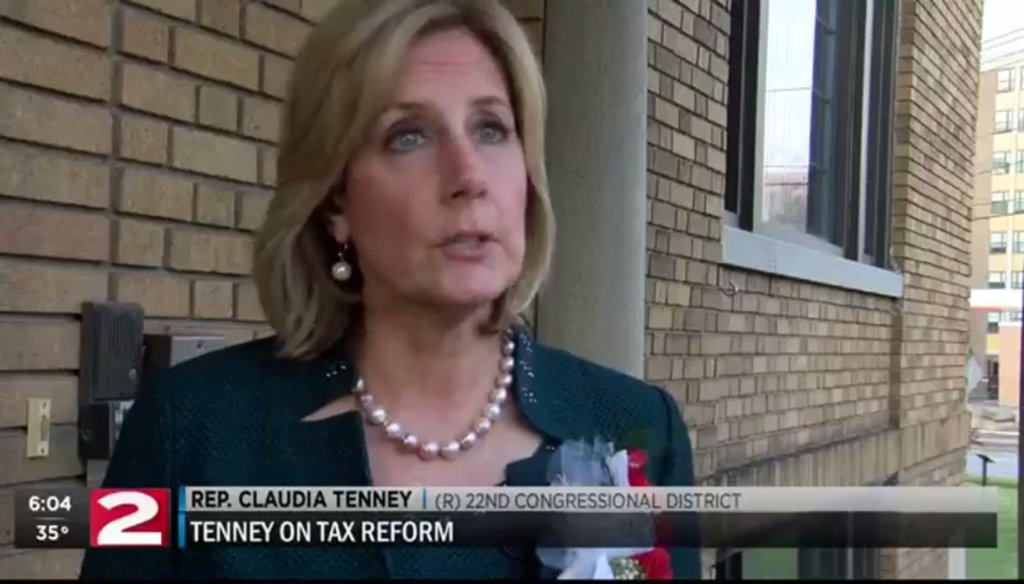 Rep. Claudia Tenney claimed wealthy people would not do well under the Republican tax plan. (Courtesy: WKTV)