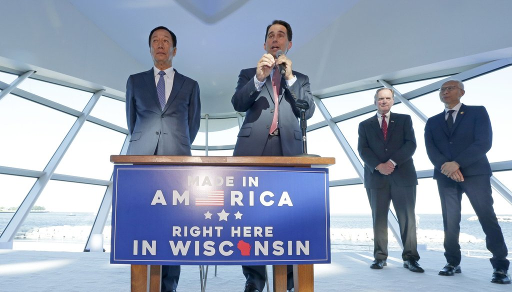 Foxconn chairman Terry Gou and Wisconsin Gov. Scott Walker have promised billions in investments and thousands in jobs. (Mike De Sisti/Milwaukee Journal Sentinel)
