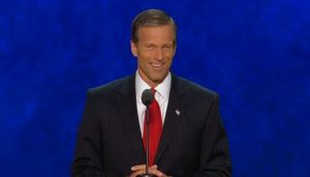 Sen. John Thune, R-S.D., speaks at the Republican National Convention in Tampa.
