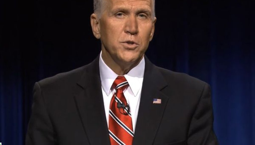 Republican Thom Tillis faced off against Democrat Kay Hagan in a debate on Oct. 7, 2014.