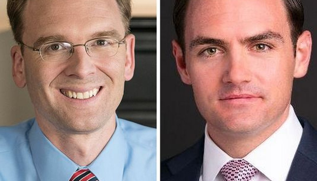 Democrat Tom Nelson (left) and Republican Mike Gallagher are running to succeed Green Bay-area GOP U.S. Rep. Reid Ribble.