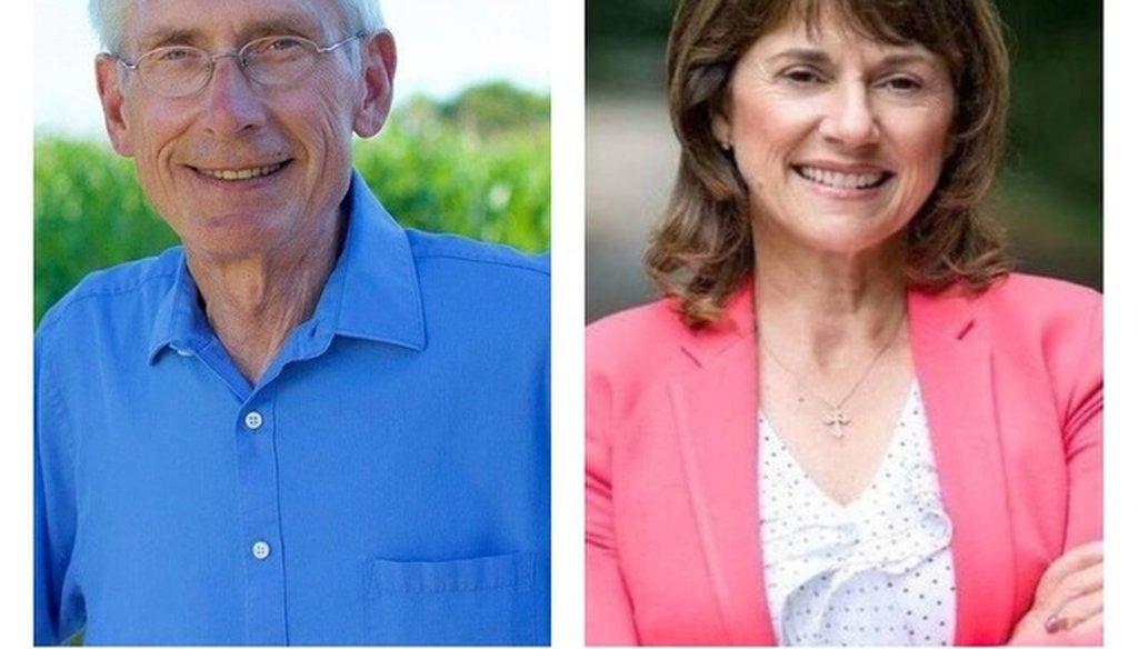 Tony Evers will challenge Gov. Scott Walker and Leah Vukmir will take on U.S. Sen. Tammy Baldwin.