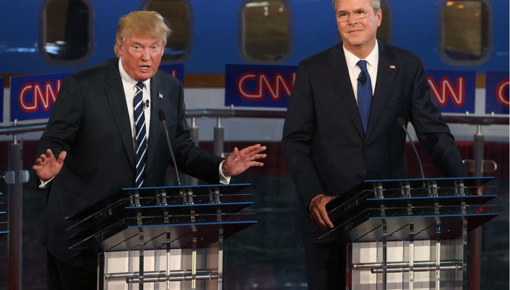 Donald Trump, seen here at the second GOP debate, said President George W. Bush failed to heed CIA warnings of the 9/11 attacks. (AP)