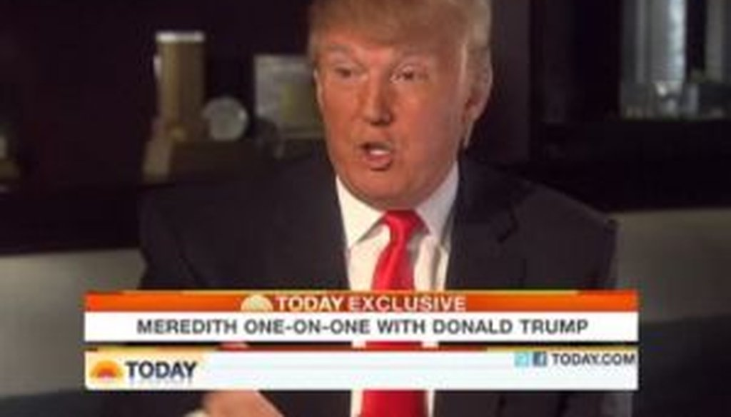 Developer and potential presidential candidate Donald Trump was interviewed on NBC's Today show on April 7, 2011. We checked whether he was right to say that his TV show is the network's highest-rated show.