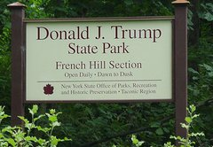 Can New York state rename Donald J. Trump State Park?