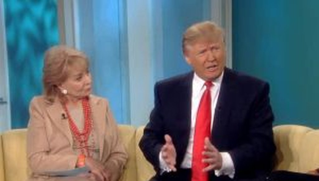 "Donald Trump, a possible presidential candidate in 2012, appeared on ""The View"" recently and said, ""We have 25,000 soliders over there protecting (South Korea). They don't pay us. Why don't they pay us?"""