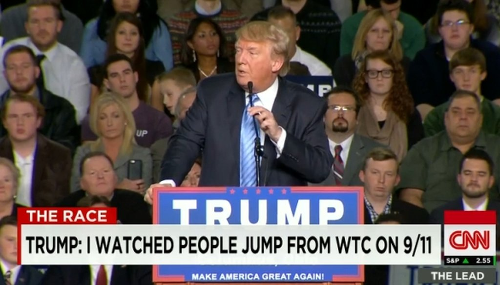 At a rally in Columbus, Ohio, Donald Trump said he was in New York City on 9/11. That claim holds up, despite a 2004 Time magazine article to the contrary.