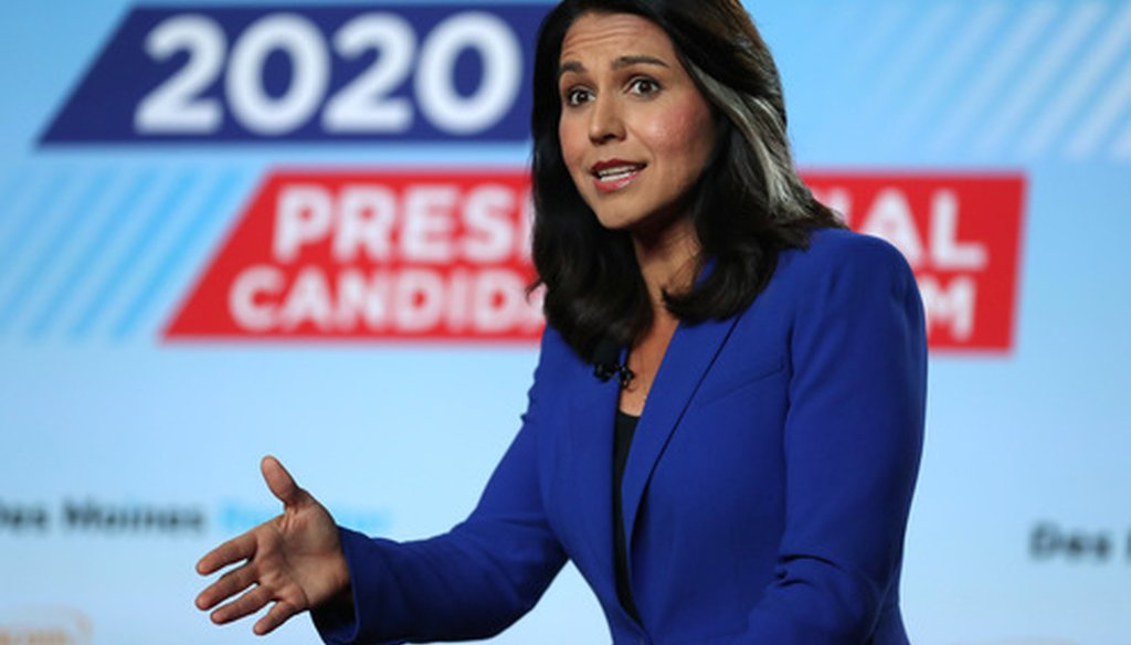 Democratic presidential candidate Tulsi Gabbard is an Army National Guard major and served in Iraq. (Getty Images)