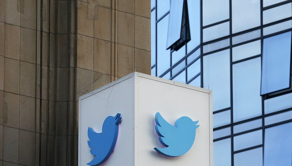 Twitter's sign outside the company's headquarters in San Francisco. (AP Photo/Jeff Chiu)